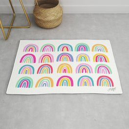 Colorful Rainbows Rug