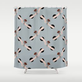 In Love - hands with flowers - GRAY #pattern Shower Curtain