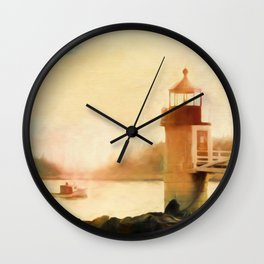 A Day In Maine Wall Clock