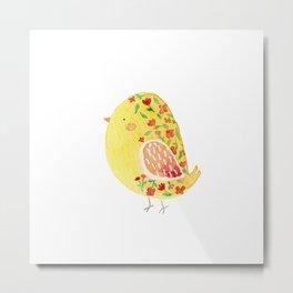 Floral chick by Alis Metal Print