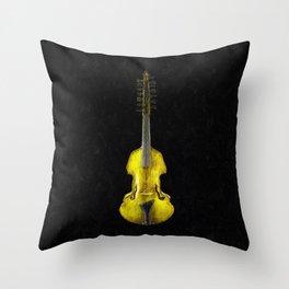 Gold Viola Throw Pillow