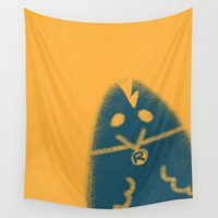 rooster Wall Tapestries featuring Rooster by Leanne Friedberg
