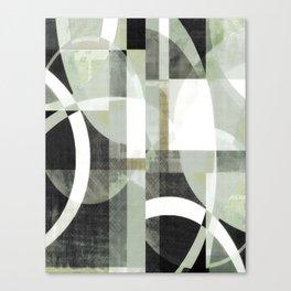 sage green art, sage green, boho art, mid century modern, geometric art, geometric print, abstract Canvas Print