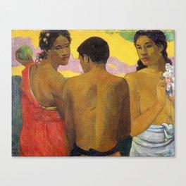 Three Tahitians by Paul Gauguin Canvas Print