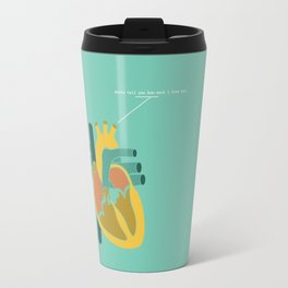 Aorta Tell You How Much I Love You Travel Mug