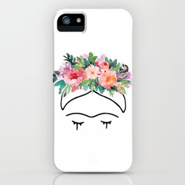 Frida Kahlo Flowers iPhone Case