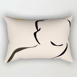abstract minimal nude Rectangular Pillow