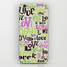 Vintage Love Words iPhone Skin
