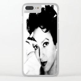 dorothy dandridge black & white photo Clear iPhone Case
