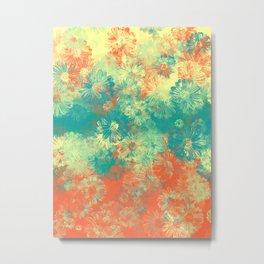 Floral print papi Metal Print