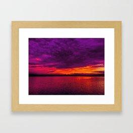 Cloudy sunrise Framed Art Print
