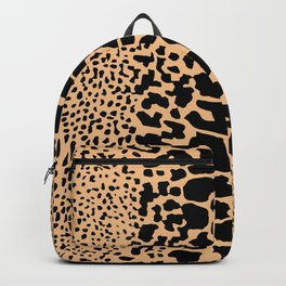 ANIMAL PRINT SNAKE SKIN TAN BROWN AND BLACK PATTERN Backpack