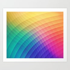 Spectrum Bomb! Fruity Fresh (HDR Rainbow Colorful Experimental Pattern) Art Print