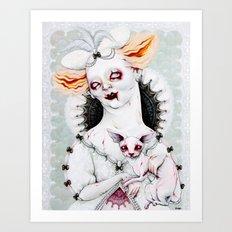 Zombie Queen Art Print