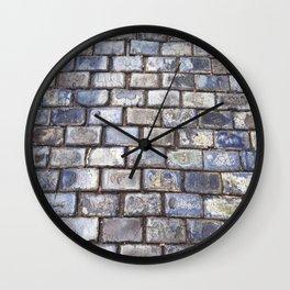 Old San Juan Blue Cobblestone Streets Wall Clock