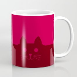 Meow Cat Red Pink Coffee Mug