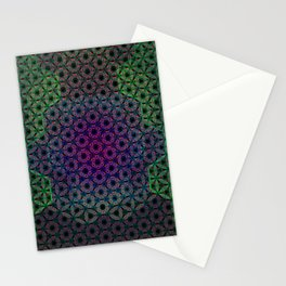 Soft Abstract Flower of Life Mandala Stationery Cards