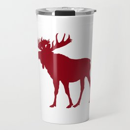 Moose: Rustic Red Travel Mug