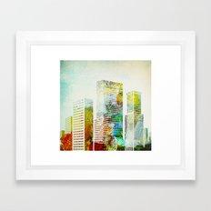 city wash I Framed Art Print