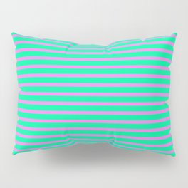 Violet & Green Colored Striped/Lined Pattern Pillow Sham
