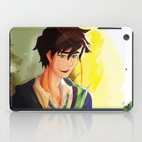 percy jackson iPad Cases featuring Percy Jackson in Hogwarts by TreyCain03