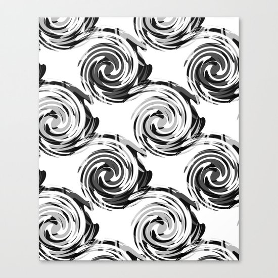 Abstract pattern in black and white tone. Canvas Print