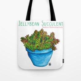 Jellybean Succulent Tote Bag