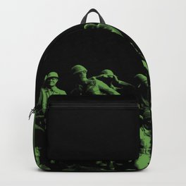 Plastic Army Man Battalion Black and Green Backpack