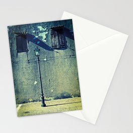 Street lamp and two windows Stationery Cards