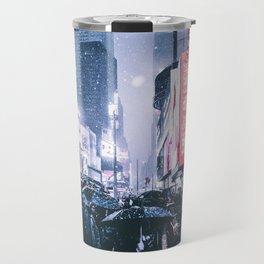 NYC Neon Winter Travel Mug