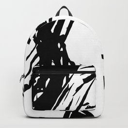 """Black&White Graphic """"That Look"""". Backpack"""