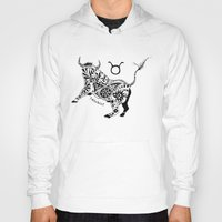 taurus Hoodies featuring Taurus by Anna Shell