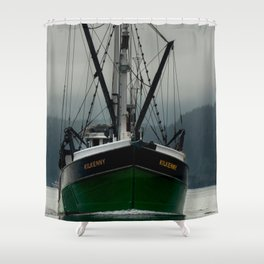 Commercial Fishing Boat Photography Print Shower Curtain