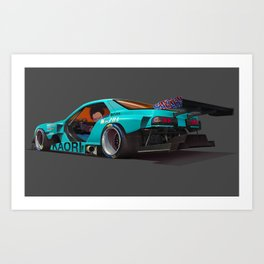 Tetsuo Shima's Rotary Racer Art Print