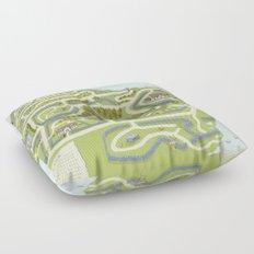 Limestone Village Maze Floor Pillow