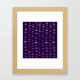 Hills - Plum Framed Art Print