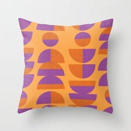 Circles Marks Throw Pillow