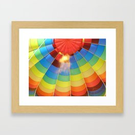 Flame Glow Float Framed Art Print