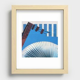 Nothin' but Blue Skies Recessed Framed Print