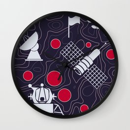 Moonmorphology Wall Clock