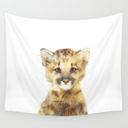 Little Mountain Lion Wall Tapestry