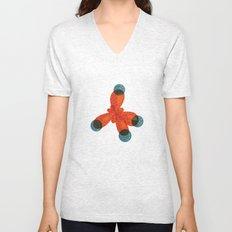 Orange Methane Molecule Unisex V-Neck