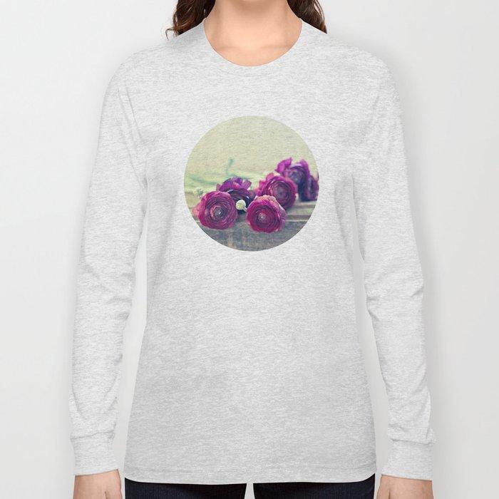 Like Royalty (Purple Ranunculus)  Long Sleeve T-shirt