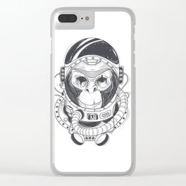 Space Monkey Clear iPhone Case