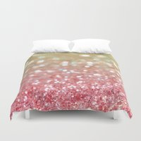 champagne Duvet Covers featuring Champagne Tango by Lisa Argyropoulos