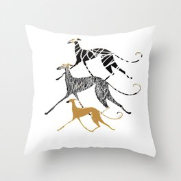 Sighthound In Ink Art Throw Pillow
