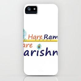 Hare Rama Hare Krishna iPhone Case