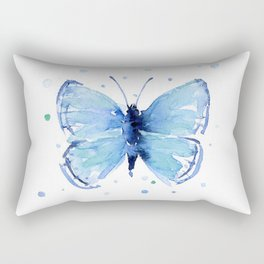 Blue Butterfly Watercolor Butterflies Animals Rectangular Pillow