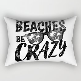 Beaches Be Crazy | Beach Designs | DopeyArt Rectangular Pillow