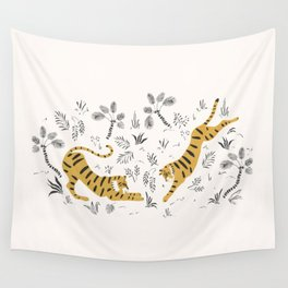 Tiger Dive Wall Tapestry
